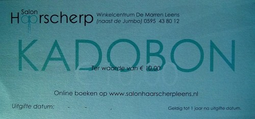 kadobon salon haarscherp